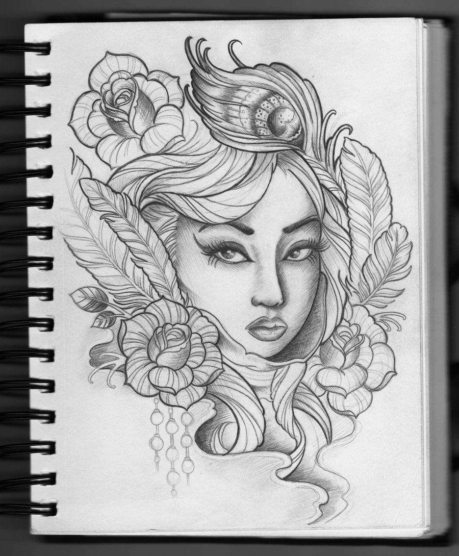 Tattoo Woman Face Design: Female Tattoo Design By ~Frosttattoo On DeviantART