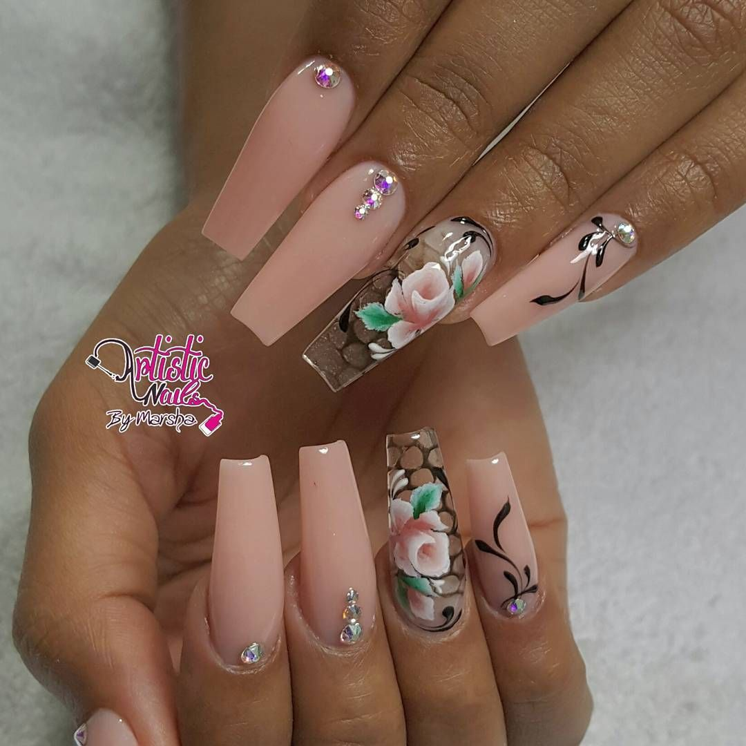 Pin by Ellyse Yvette on Nails | Pinterest | Nail nail, Coffin nails ...