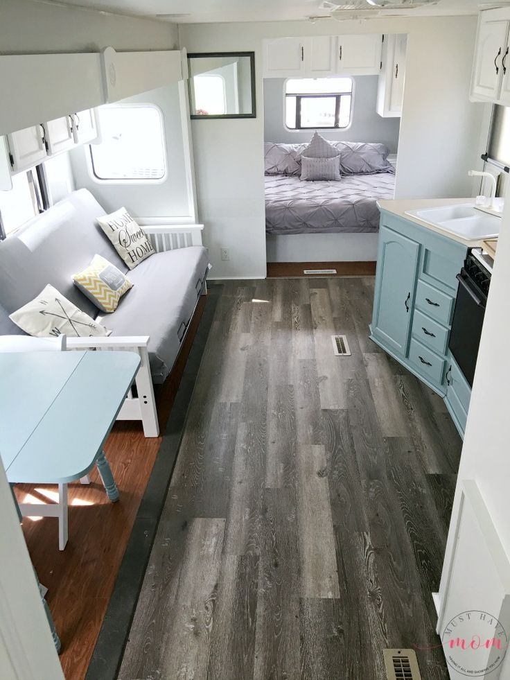 Easy RV Makeover With Instructions To Remodel Interior Paint Walls 2 Tone Kitchen Cabinets LOVE