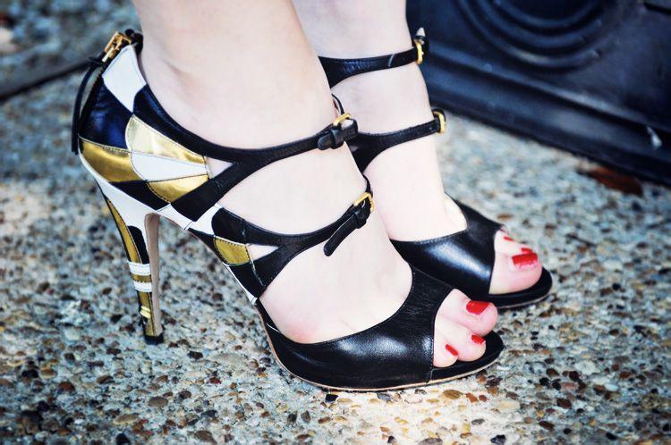 Miu Miu art deco heels