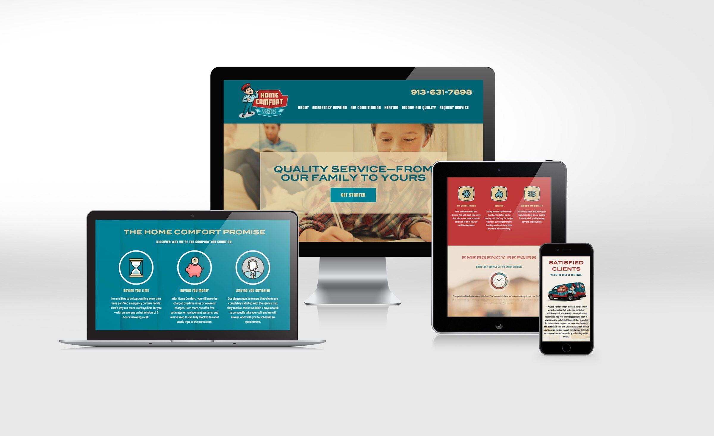 Home Comfort Kickcharge Creative Portfolio Web Design Web Design Website Design