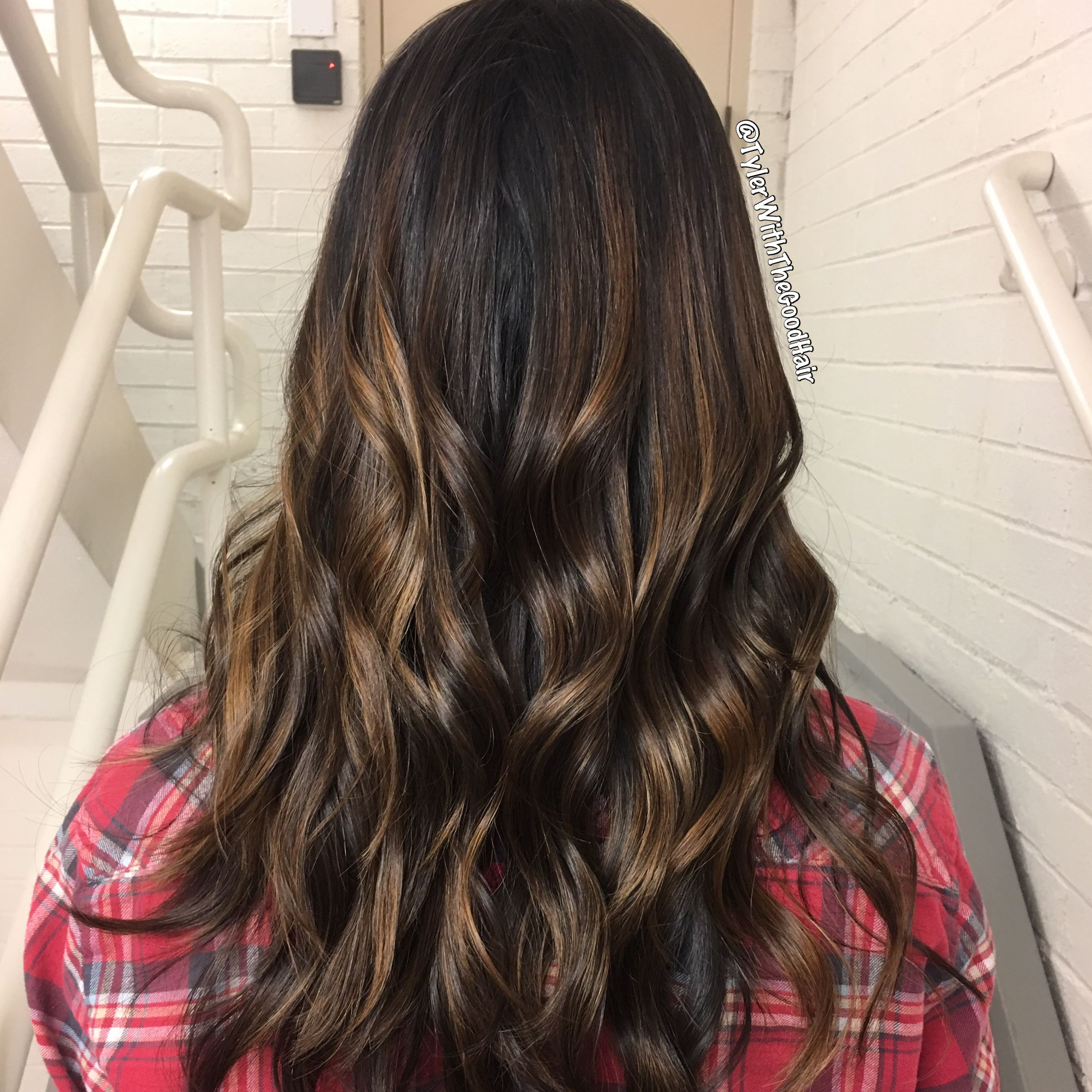 Fall and winter inspired balayage with dimension, glazed with Redken ShadesEQ, and curled with a 1 and a quarter inch curling iron ❤️  #balayage #naturalbalayage #brownbalayage #balayageondarkhair #blondebalayage #curls #hair #redbalayage #redhair