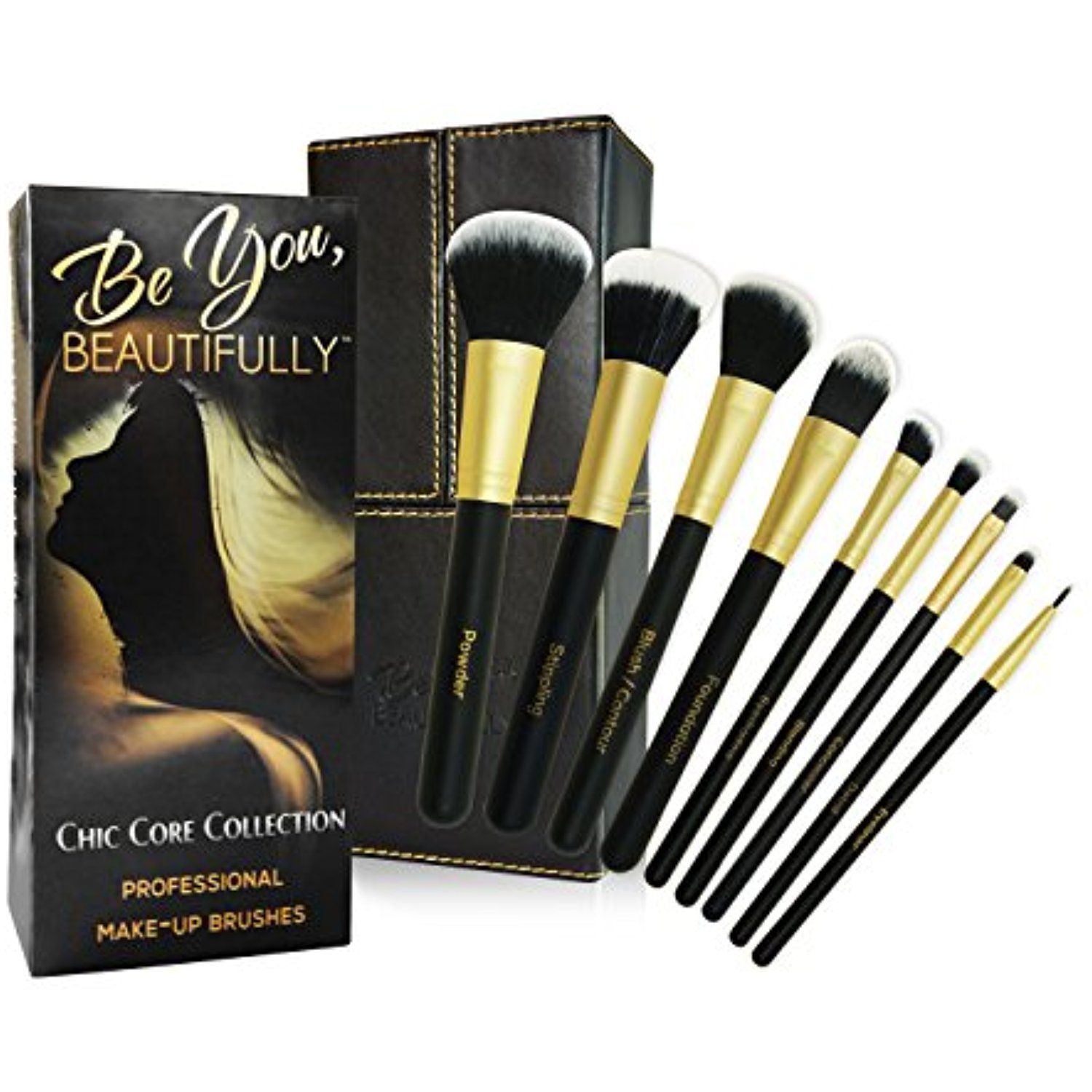 BEST SELLING Professional 8 Piece Makeup Brush Set with