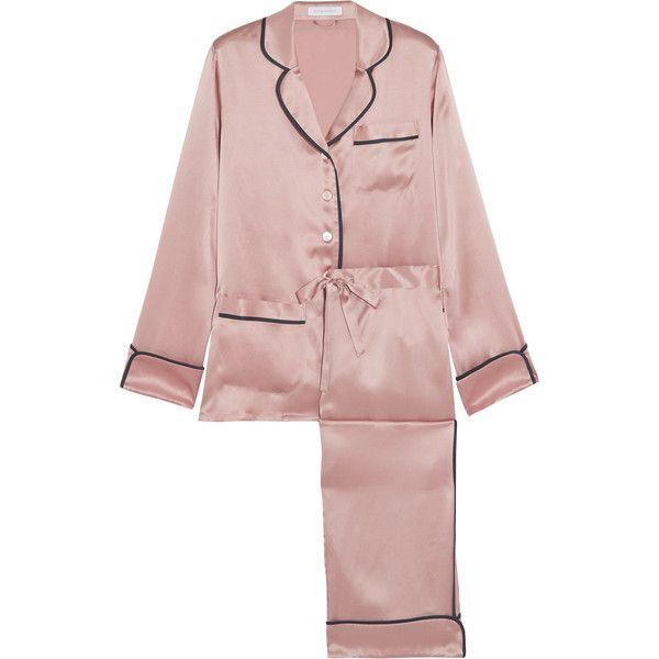 c65a94fef69 Olivia von Halle Coco silk-satin pajama set ( 430) ❤ liked on Polyvore  featuring intimates