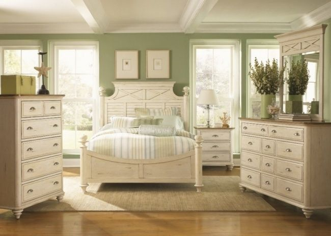 wohnideen schlafzimmer vintage grün pastelltöne kommoden Wohnen - wohnideen schlafzimmer