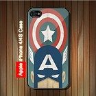 Vintage Captain America iPhone 4, 4S Case (Black Case) #iPhone4 #iPhone4 #PhoneCase #iPhone4Case #iPhone4Case