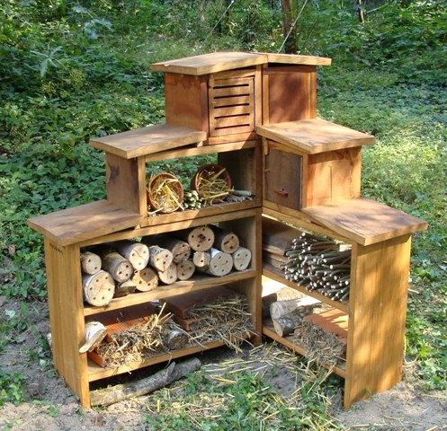 Bug hotel biblioth que nationale de france h tel insectes dans le jardin for t ph sylvie - Hotel a insecte ...