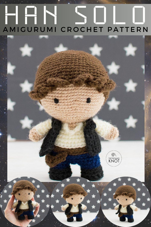 Han Solo Crochet Pattern Star Wars Amigurumi Toy Crochet Doll Pdf Geeky Toys Geek Gift Amigurumi Pattern Crochet Patterns Star Wars Christmas Ornaments
