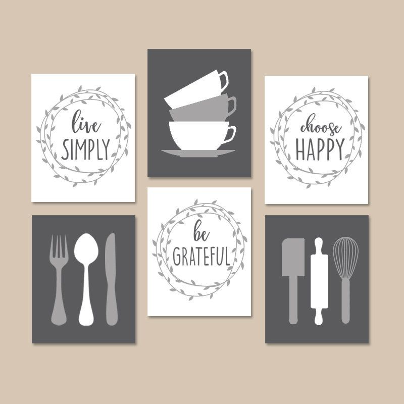Kitchen Utensil Wall Art Farmhouse Kitchen Canvas Or Print Be