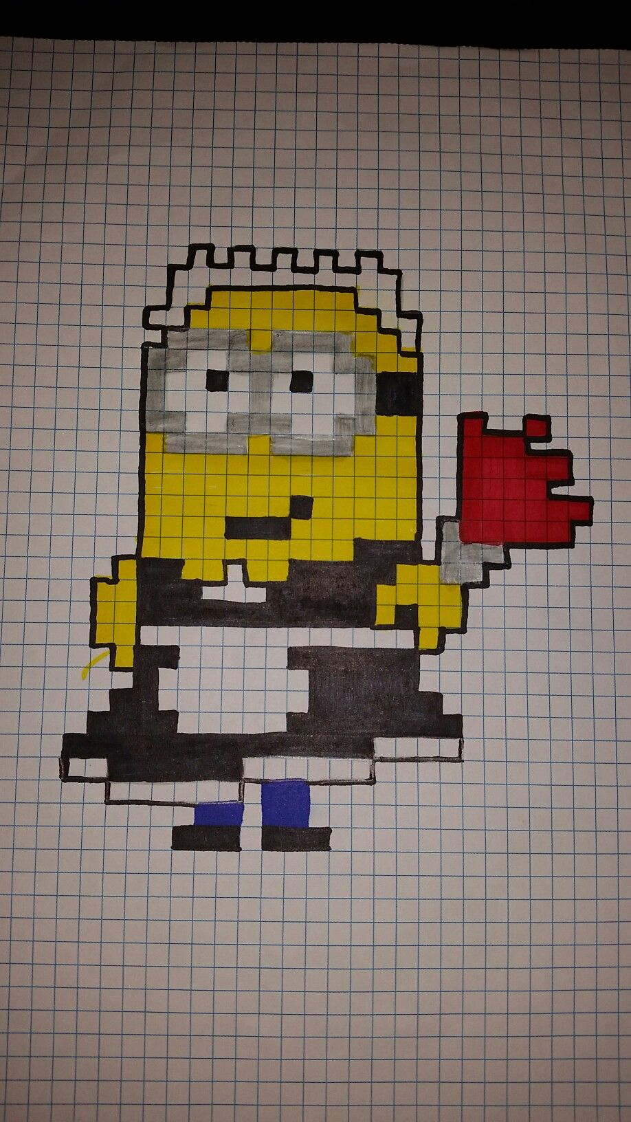Minion Pixel Art Dessin Pixel Dessin Pixel Facile Et