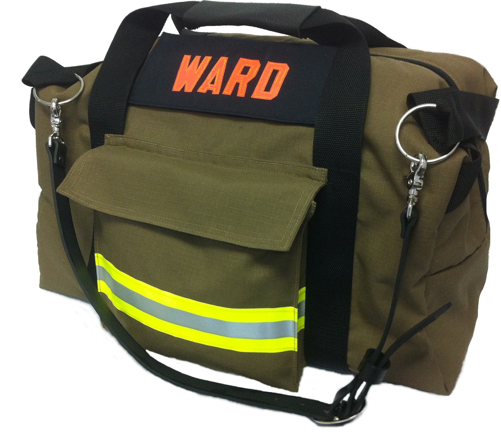 Recycled bunker gear bags - Station Duffle Bag Made From New Advance Ripstop Outer Shell Turnout Gear Fabric