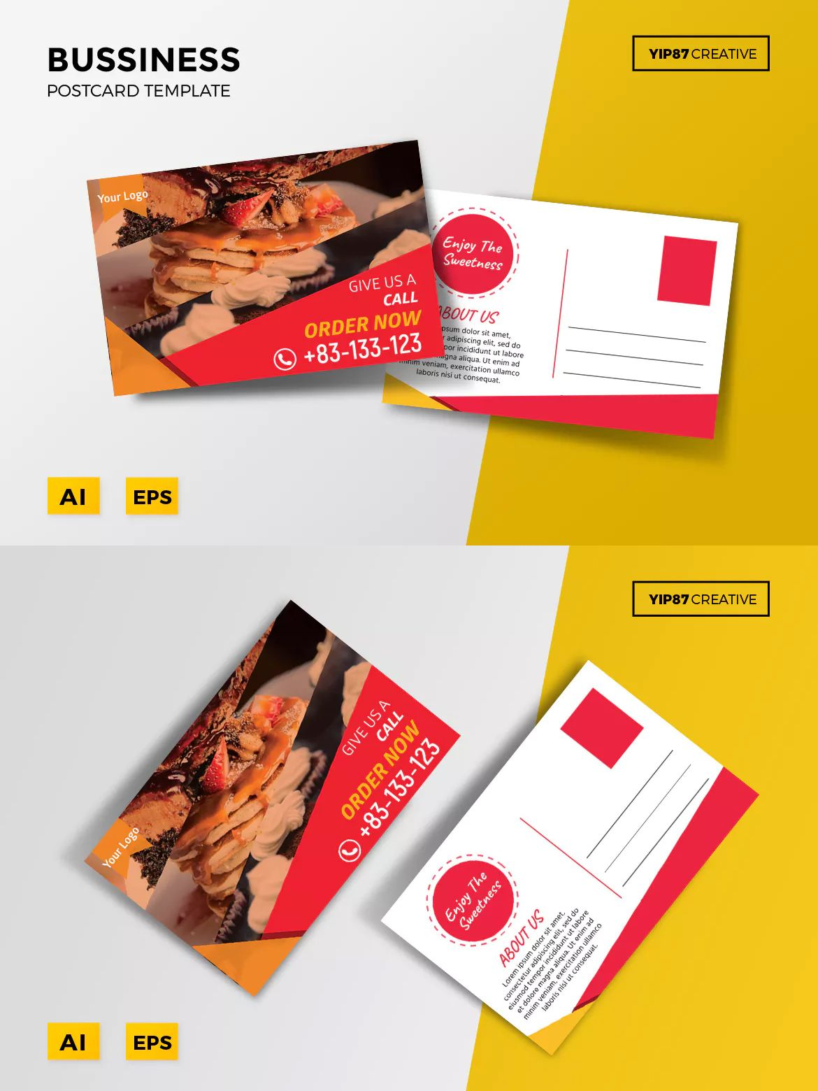 business postcard template ai eps postcard design templates