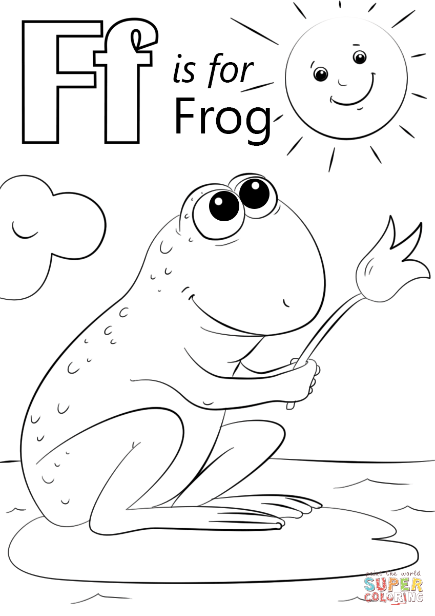 Letter F is for Frog | Super Coloring | 01Coloring ABC | Pinterest ...