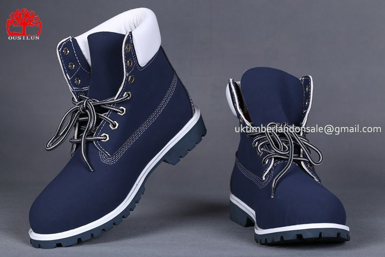 320731b65 Timberland Men's 6 Inch Classic Boots Dark BLue White $81.00 | Blue ...