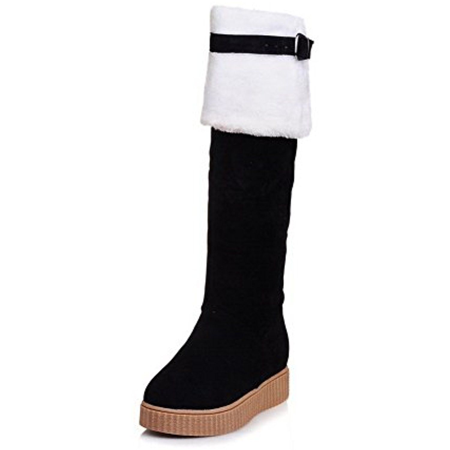 Women's Low-Heels Frosted High-Top Solid Pull-On Snow-Boots