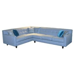 Delightful Rowe Dorset Corner Sectional With Tufted Back   Becker Furniture World    Sofa Sectional Twin Cities