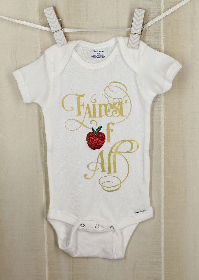 f823241e5 Fairest of All Snow White Onesie Snow White Baby Shower Disney ...
