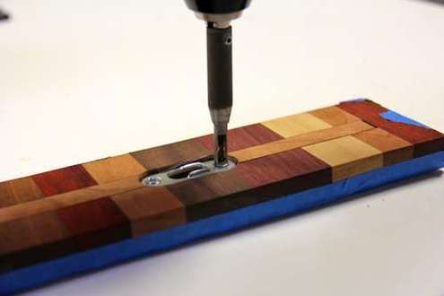 How to: Make a Wooden Magnetic Knife Strip | Man Made DIY | --> note use of different wood species blocks glued(?) together--- way to use scraps and samples