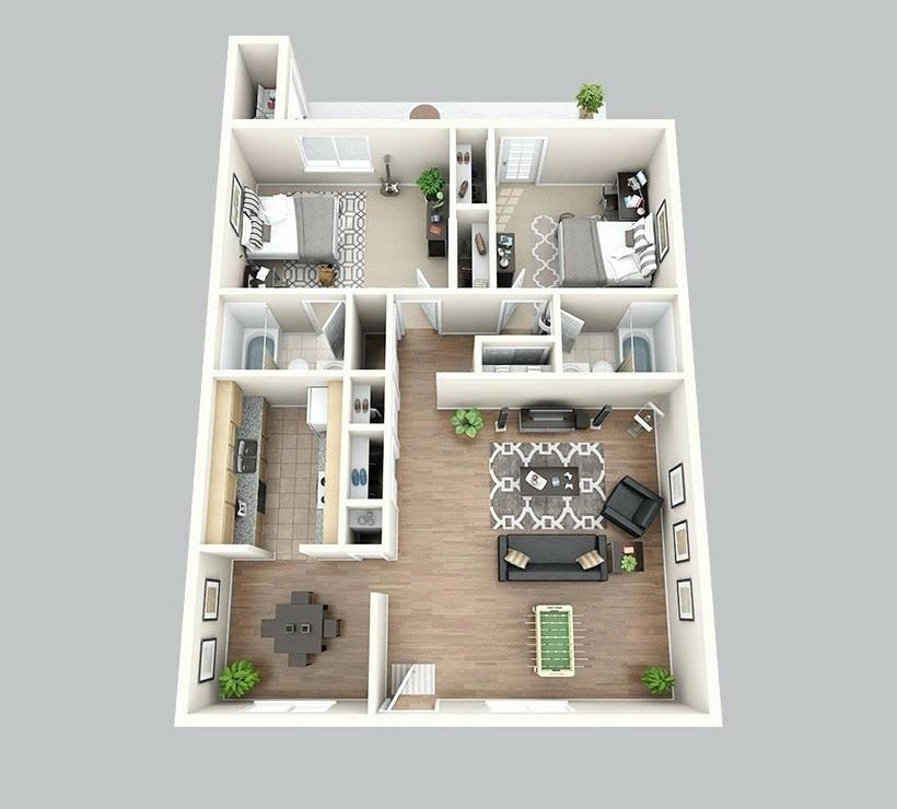 800 square feet 2 bedrooms Google Search House plan
