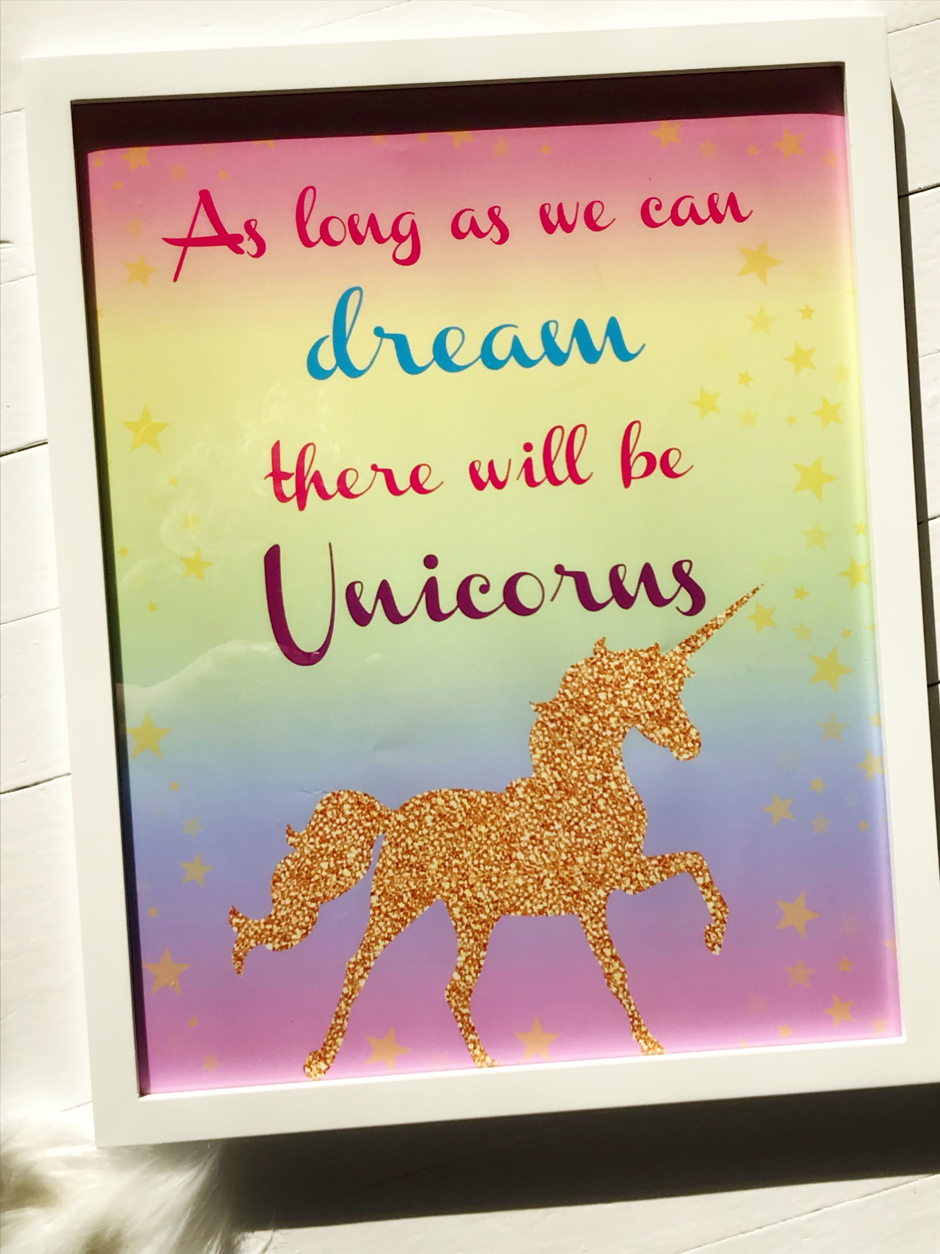 Girls bedroom ideas, cute bedroom, unicorn wall art, unicorn decor ...