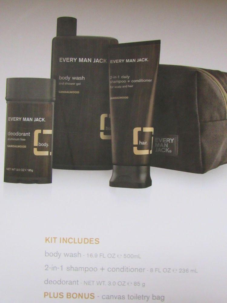 Every Man Jack Gift Set 3 Full size Sandalwood Products