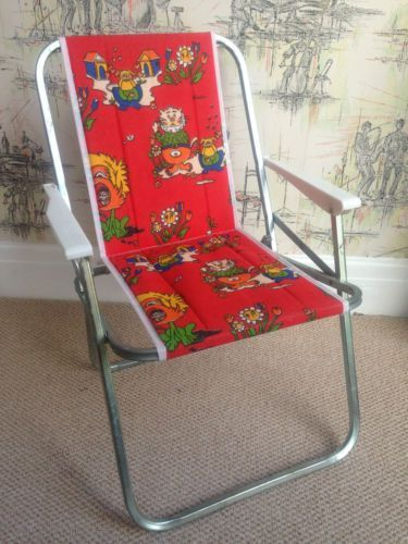 Childs Vintage Picnic Camping Folding Chair 1970s 80s Ebay