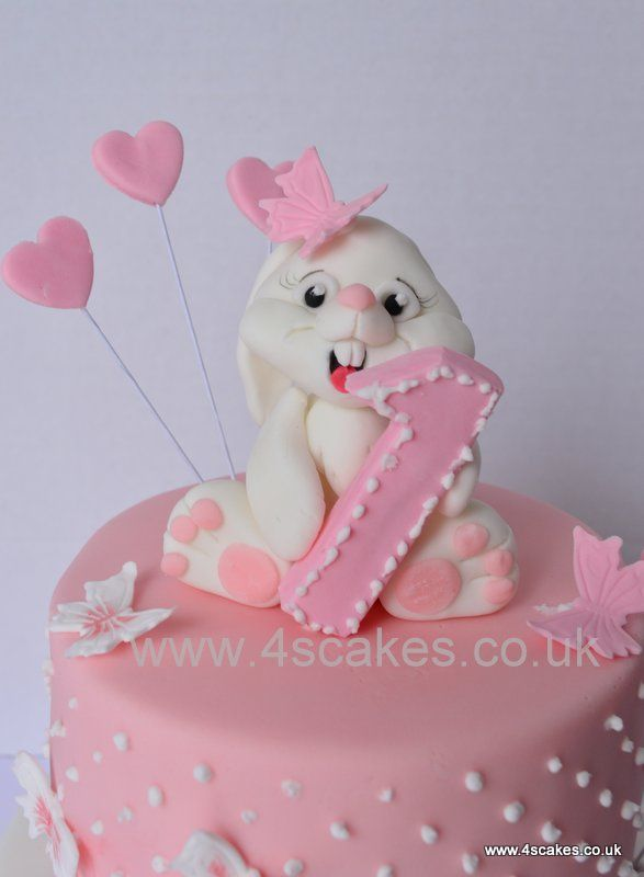 Image result for first birthday cakes with butterflies and bunnies