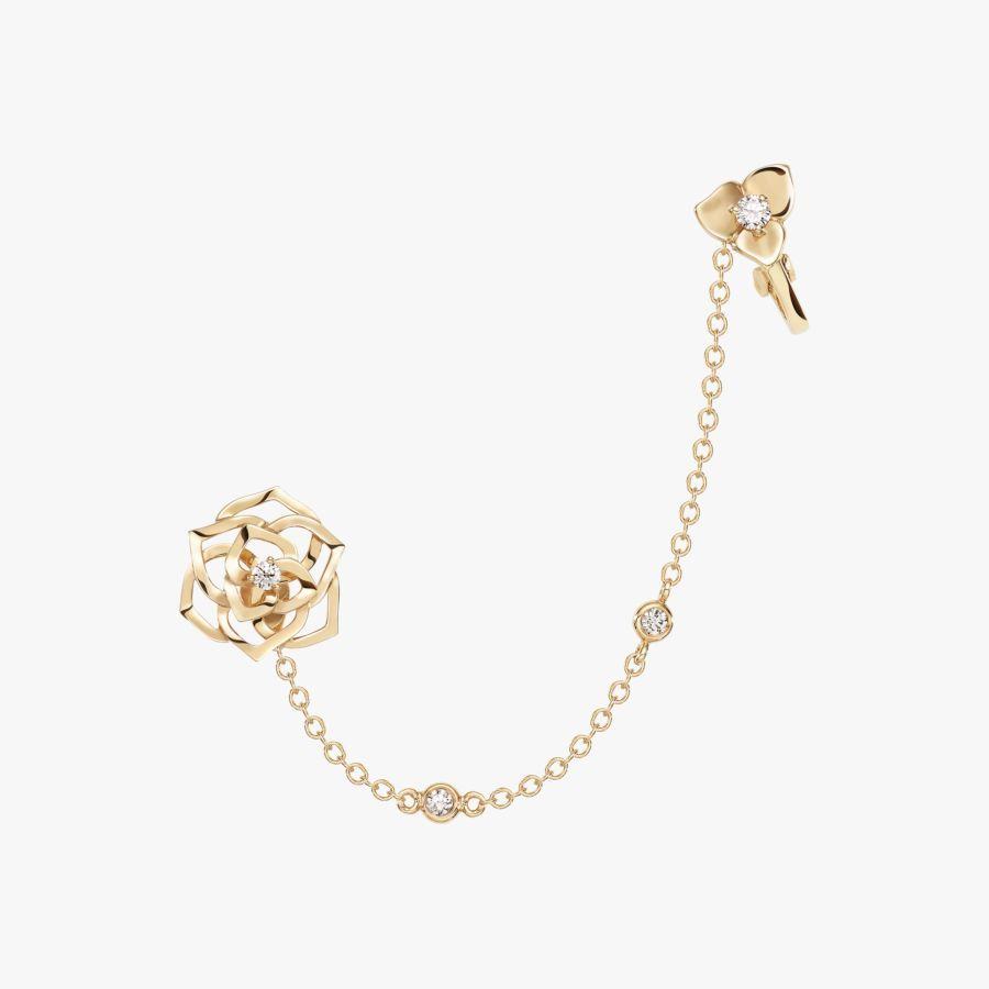 Rose gold diamond earrings gu piaget luxury jewelry online