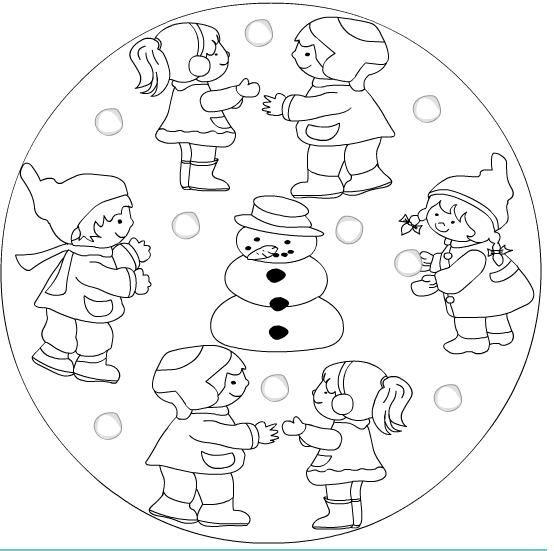 winter coloring pages mandala - photo#24