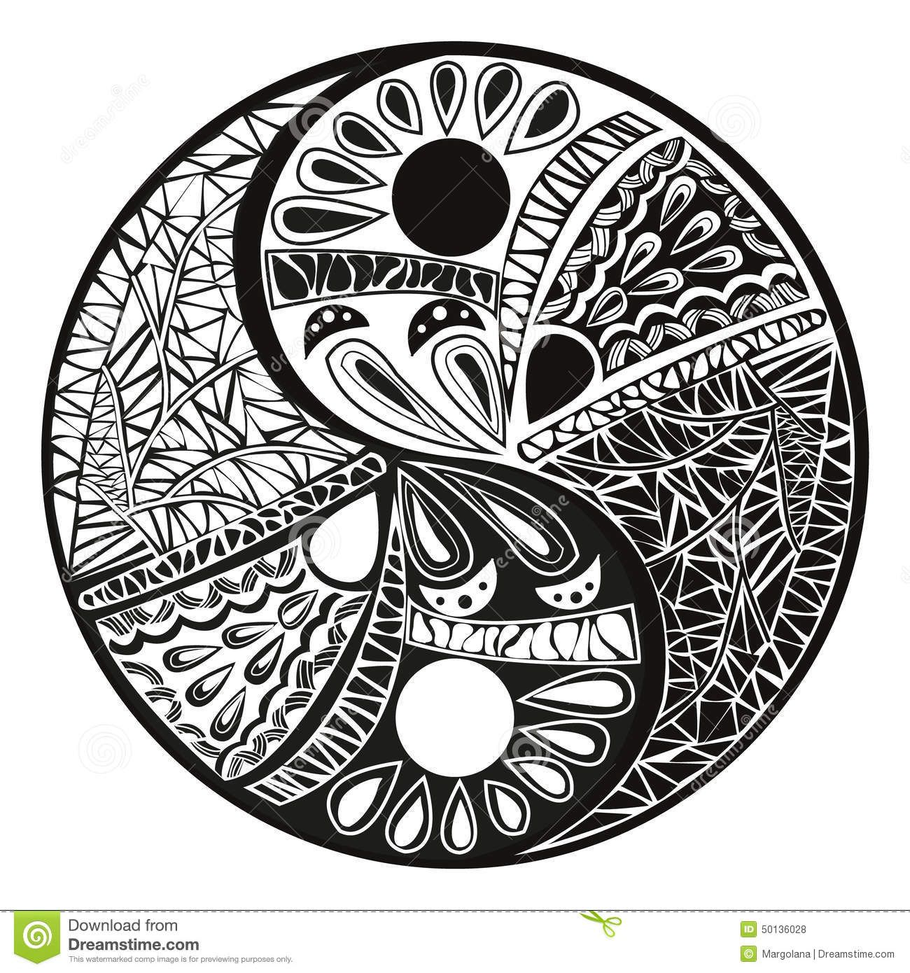 Coloring pages yin yang