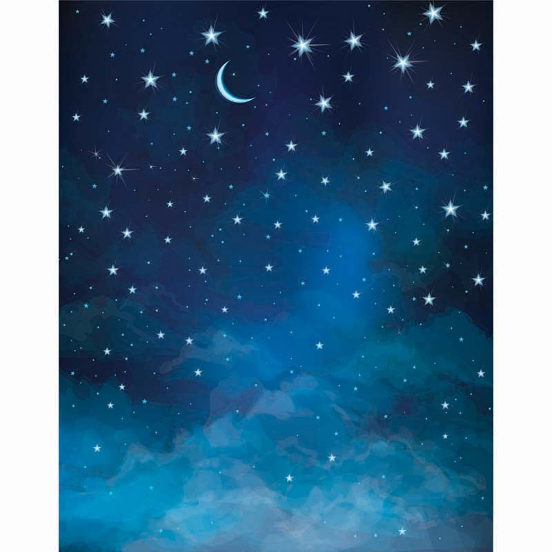 stars photography backdrop thin fabric cloth printed background