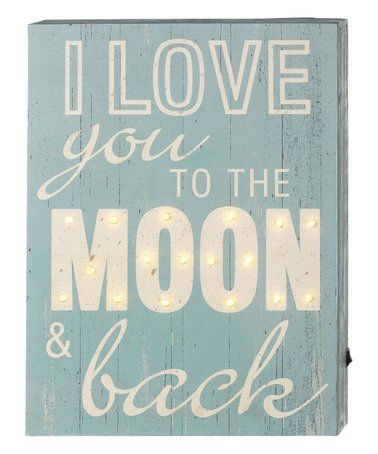 Look what I found on #zulily! 'To the Moon and Back' Lighted Wall Décor #zulilyfinds