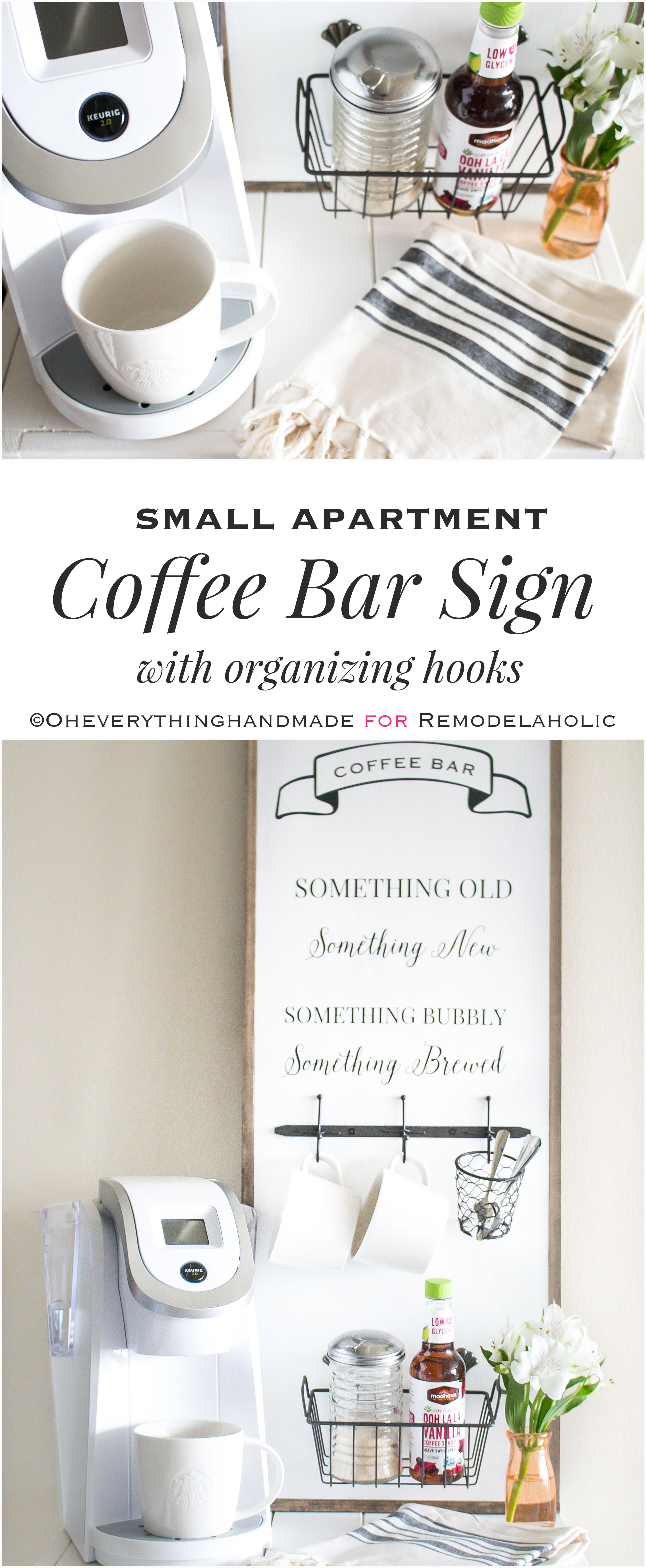 Create A Space Saving Mini Coffee Bar Right In Your Small Home Or Apartment  With
