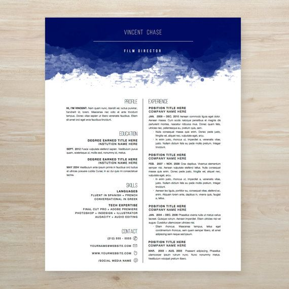 creative resume template package