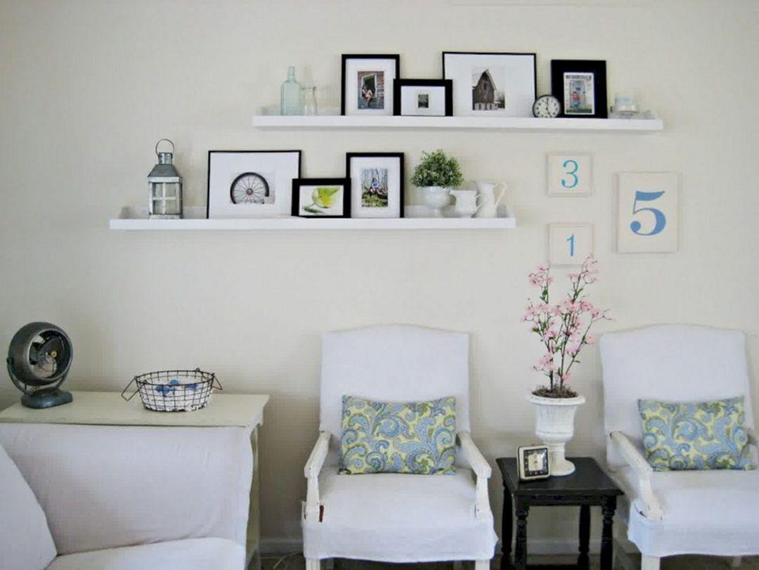 23 diy floating shelves decorating for amazing living room