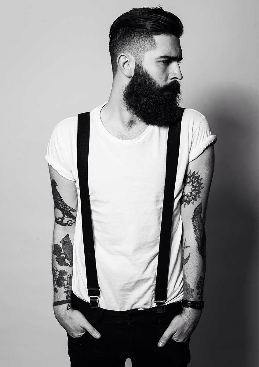 Chris John Millington/ skinny jeans / suspenders / & a beard / you got me