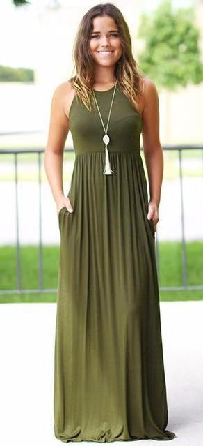 cbce7cb03ba Charming Sleeveless Tunic Maxi Dress