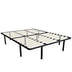 Zinus 14 Inch Myeuro Smartbase Wooden Slat Mattress Foundation Platform Bed Frame Box Spring Replacement Queen Giường