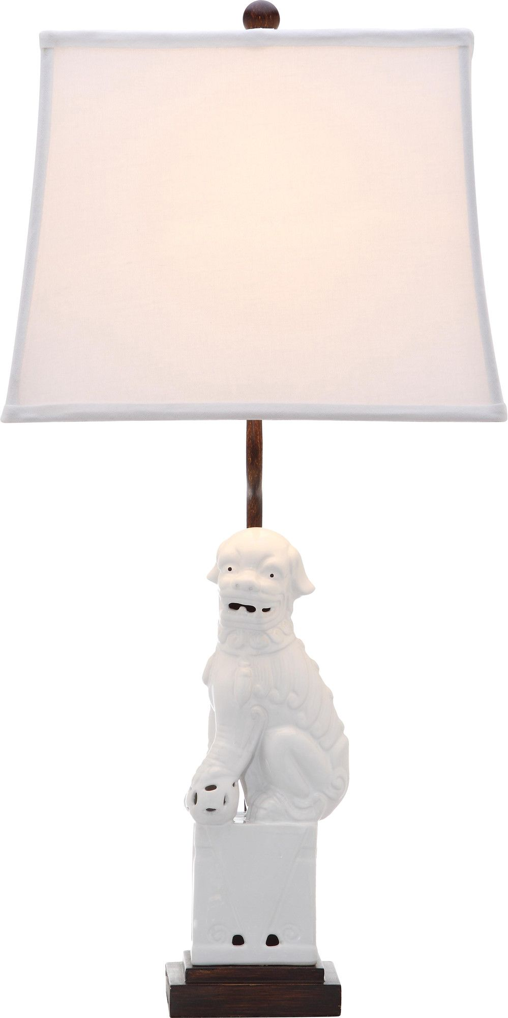 Foo dog 28 h table lamp with bell shade products pinterest foo dog 28 h table lamp with bell shade geotapseo Gallery