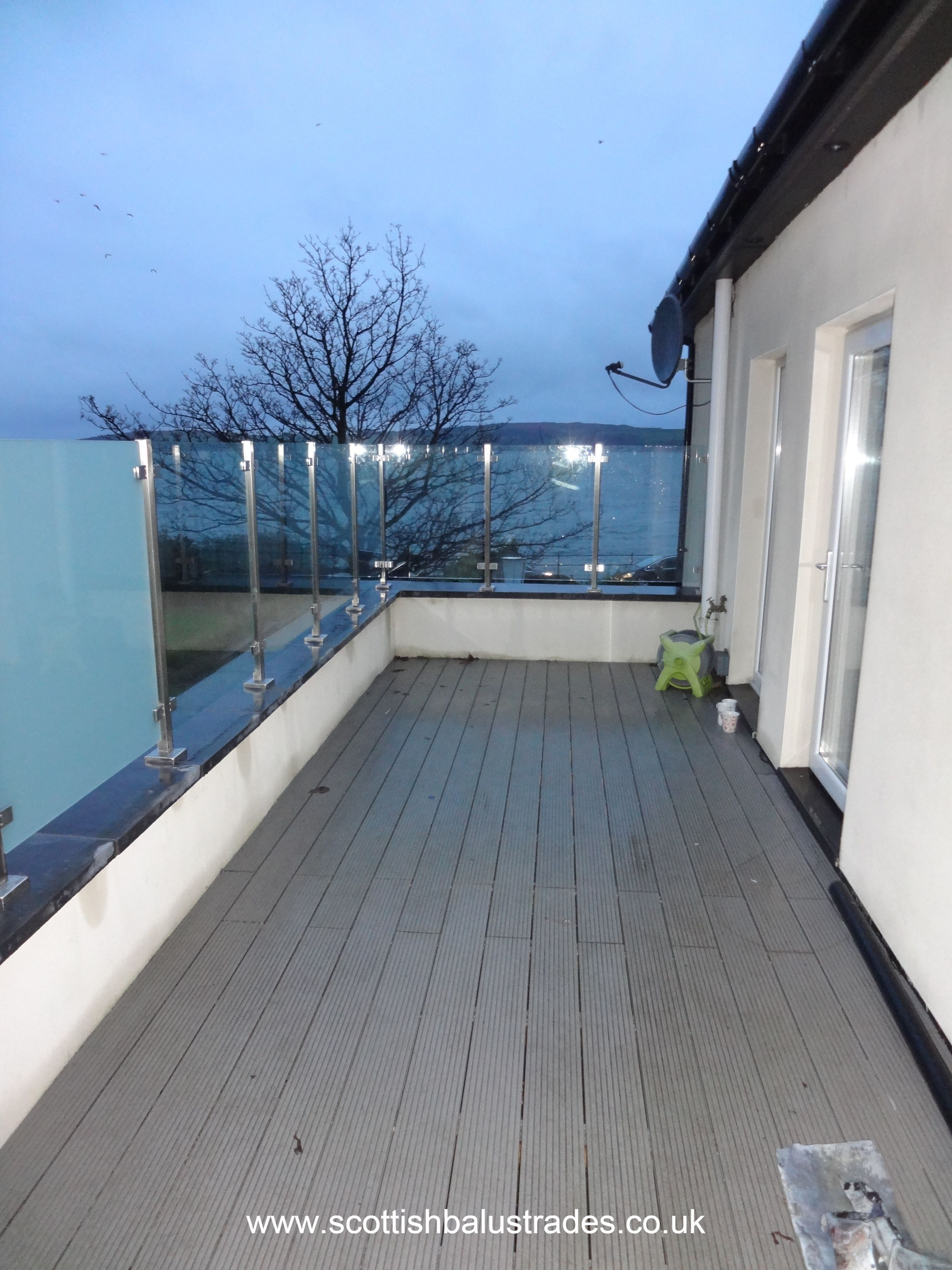 Glass Infill Photo Gallery: Square Style Glass Balustrade Without A Top Rail (semi-frameless). Square Posts And The Use Of