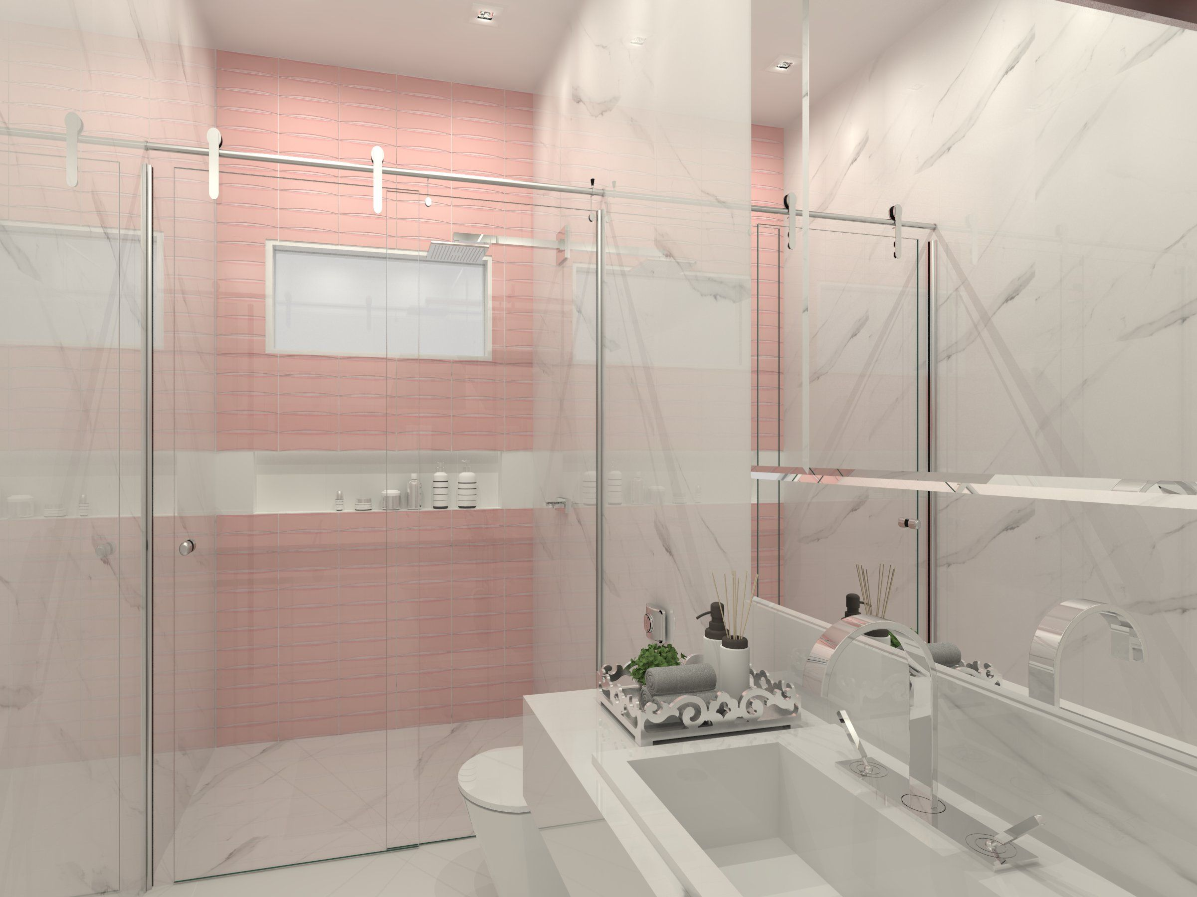 Banheiro de mo a utilizando o calacata e o bella vita spk for Ceramica bellavista