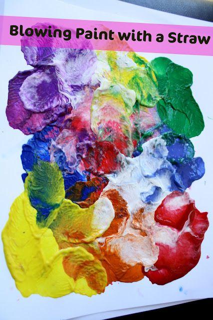Straw-Blown Paint