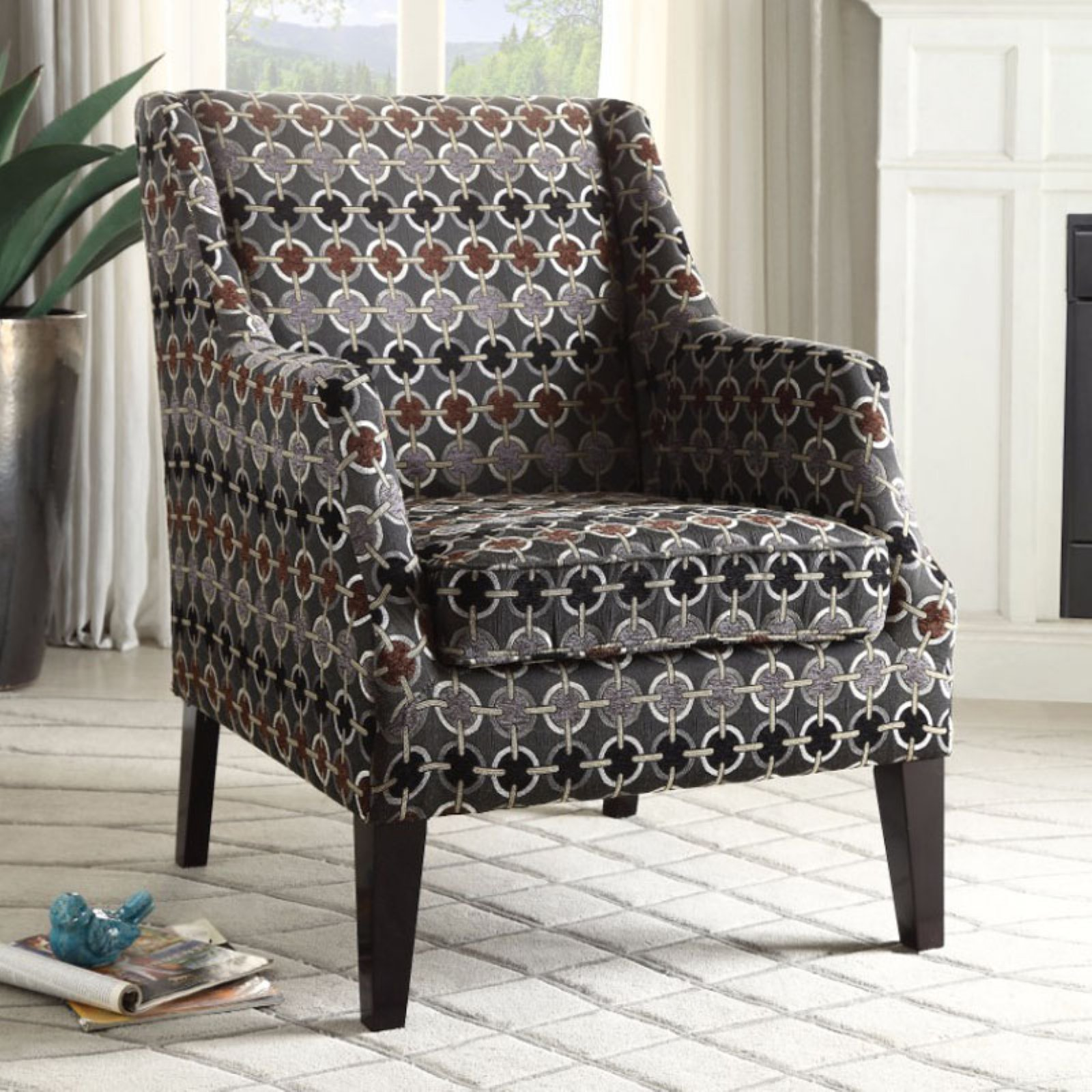Benzara Accent Arm Chair Accent Chairs Upholstered