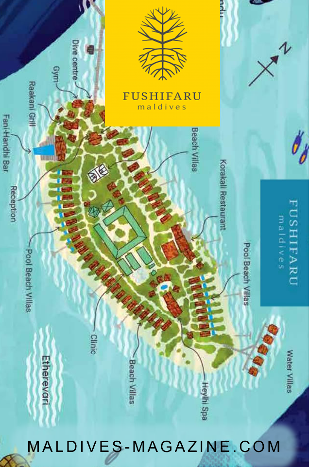 Fushifaru Maldives Map Fushifaru Is Located In Lhaviani
