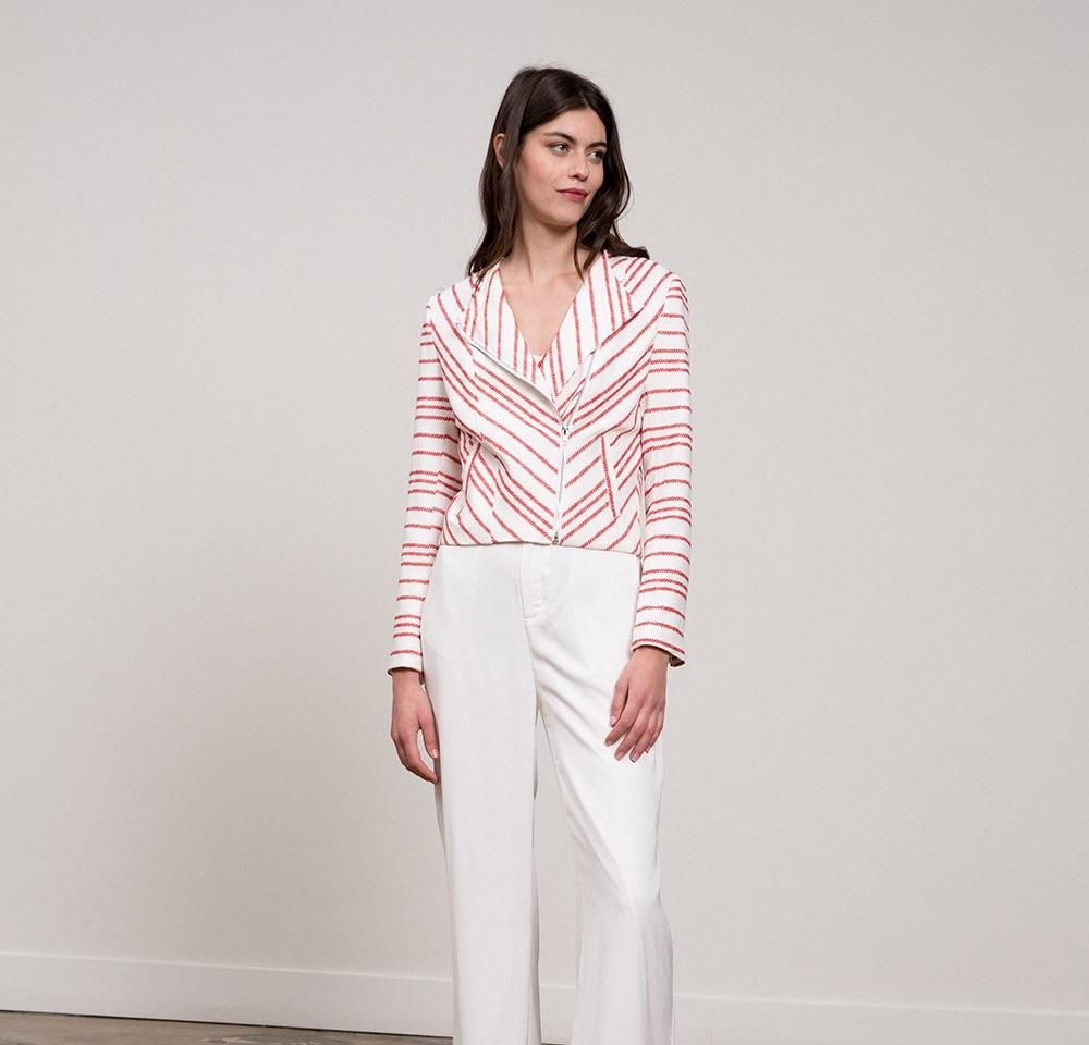 Striped red and white jacket products