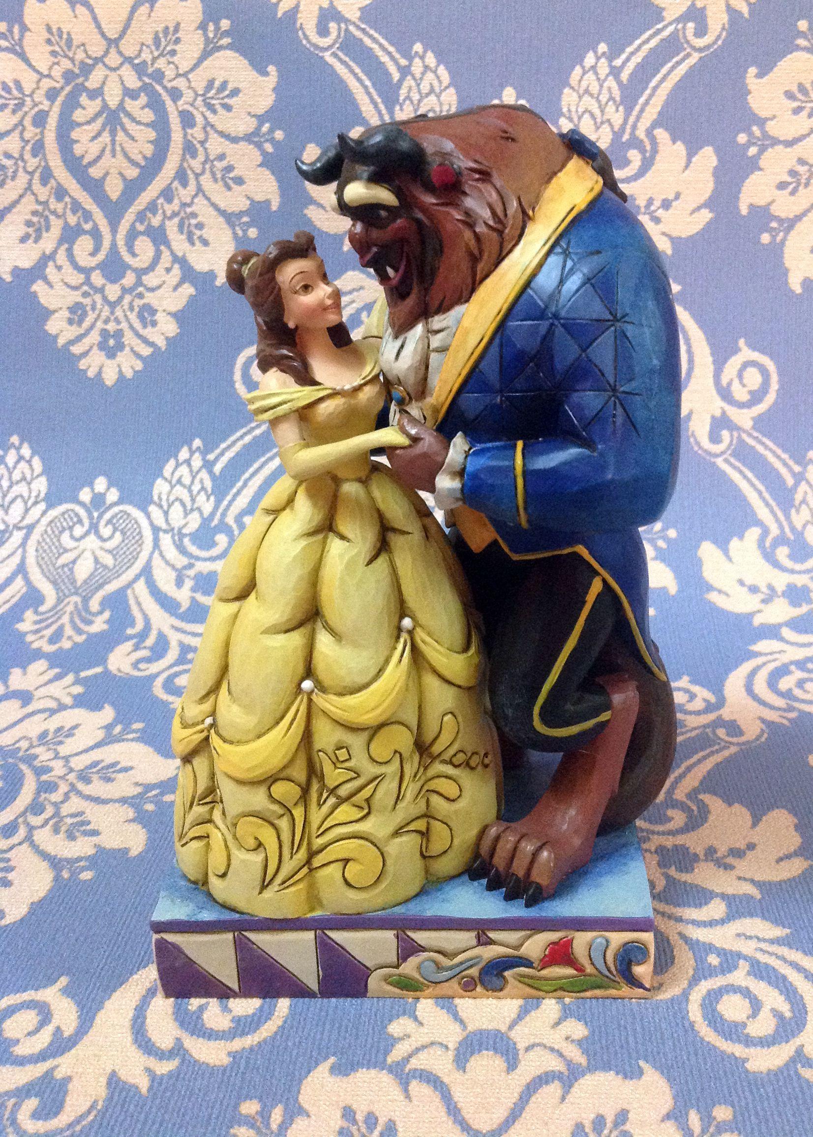 """La Bella e la Bestia. Figurine della linea """"Royal Romances"""" collezione di Jim Shore ( in resina)"""