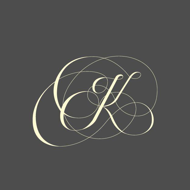 """""""K"""" tipografía vector."""