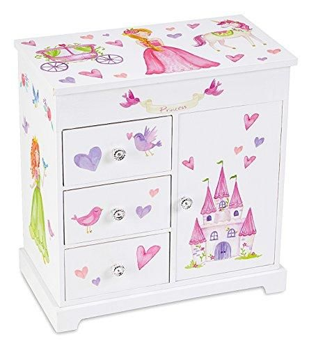Photo of Jewelkeeper Girl's Musical Jewelry Storage Box with 3 Pullout Drawers – Princess and Unicorn