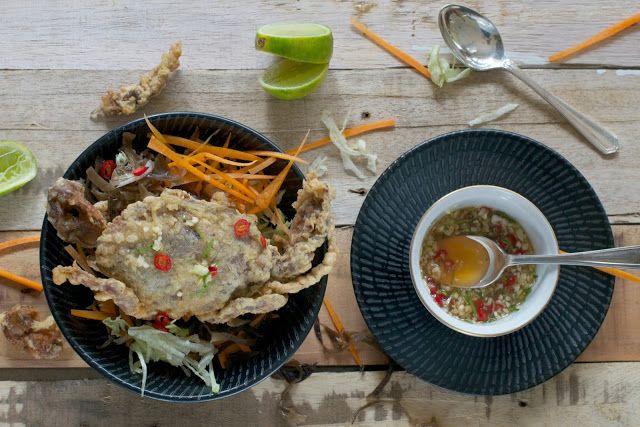 Kepiting Soka Soft Shell Crab With Salad Kepiting Resep Seafood Makanan