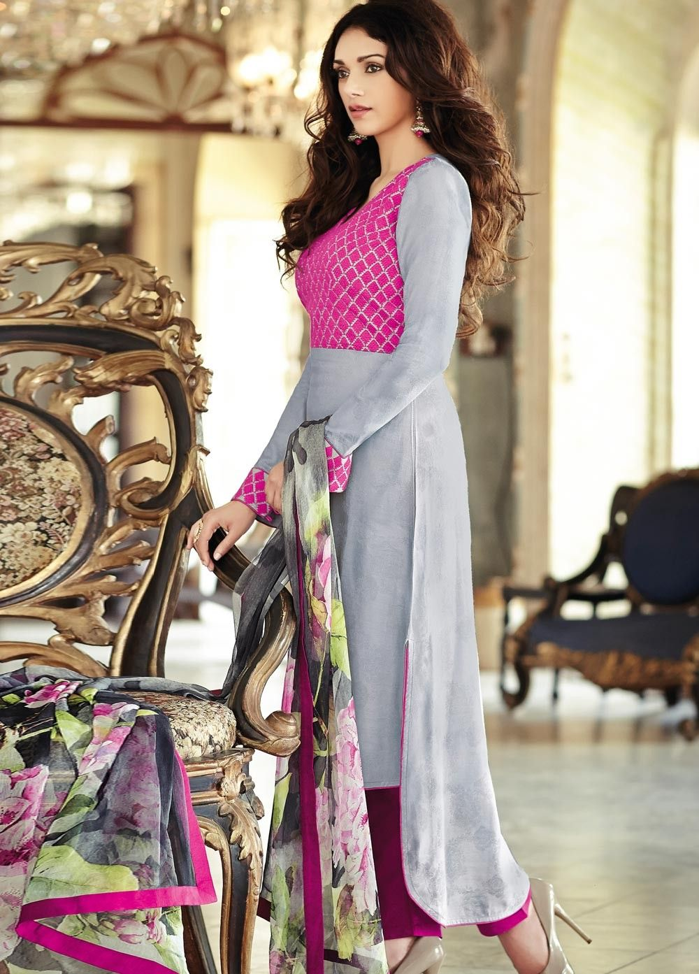 Bollywood Aditi Rao Hydari #Cotton Jacquard #Suit at Manndola.com ...